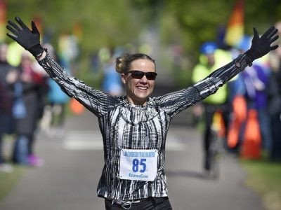 Amy Feit Says winning the Manitoba Marathon was a special moment for her