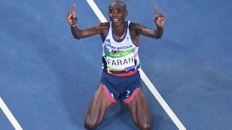 Four-time Olympic champion Mo Farah will be competing Sunday in the London Marathon but is also seriously considering running the 5,000 and 10,000 in Tokyo