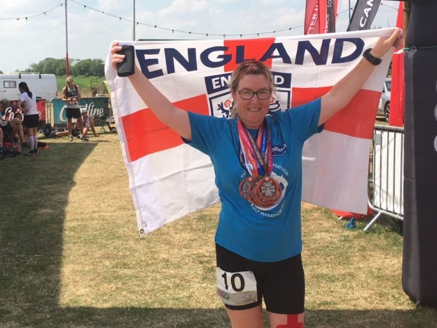 Mel Sturman set a British record by finishing 10 marathons in 10 days, five times