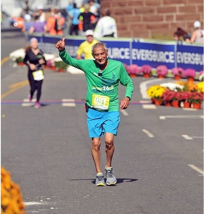 71-year-old Kiran Majmudar will be running his seventh Hartford Marathon