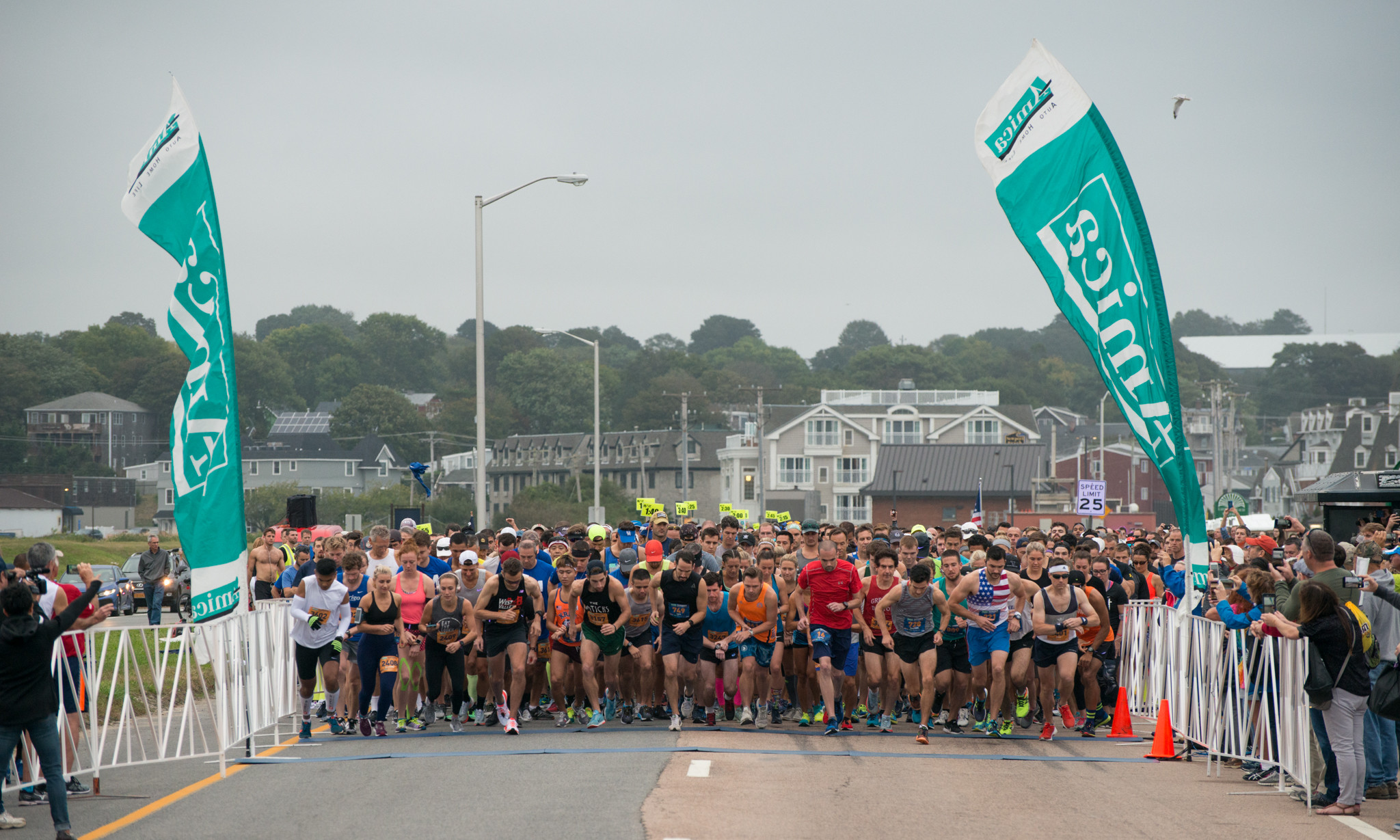 The Amica Newport Marathon, BankNewport 10 Miler, and Ocean Road 10K have all been named in the top 100 races in the USA by online racing resource Bib Raves
