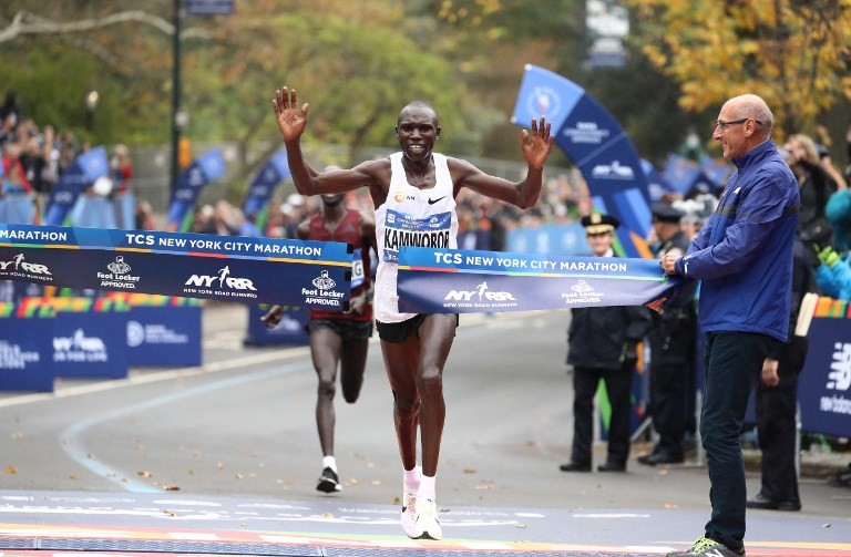 Kenya's Geoffrey Kamworor will return to the New York City Marathon on Nov. 4th in hopes of defending his title from last year