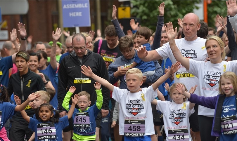 This will be a great experience for the kids at the Greater Manchester Marathon