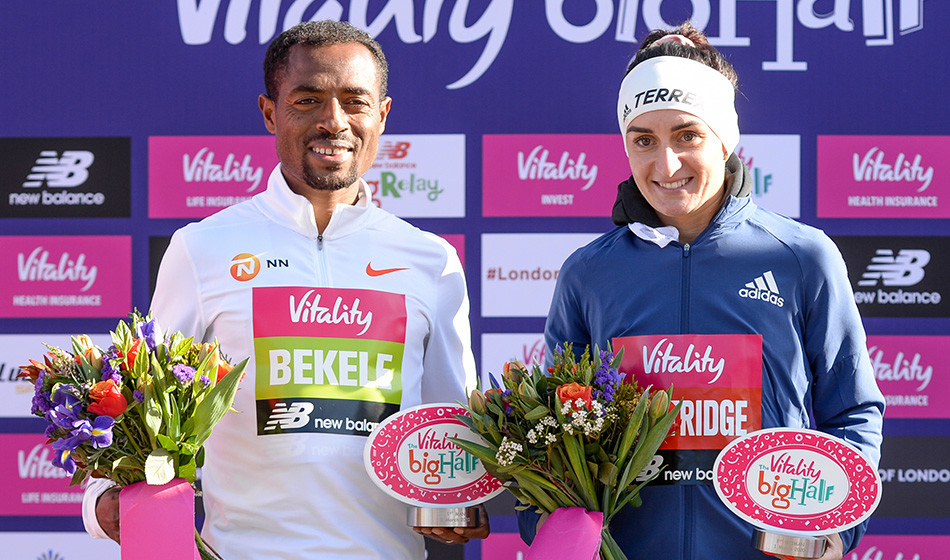 Kenenisa Bekele breaks Mo Farah's course record at the Vitality Big Half