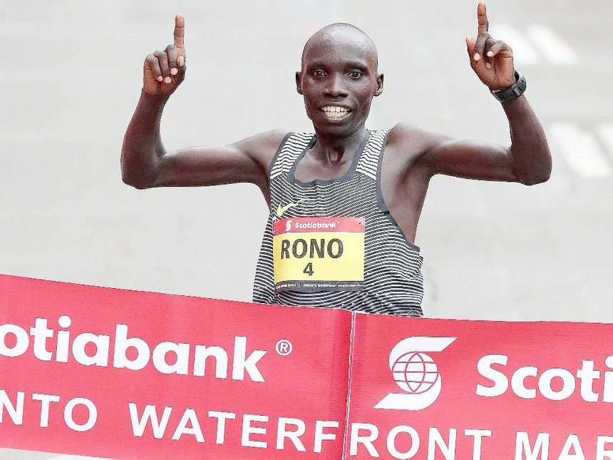 The Toronto Waterfront Marathon elite field is lead by last year's winner Philemon Rono