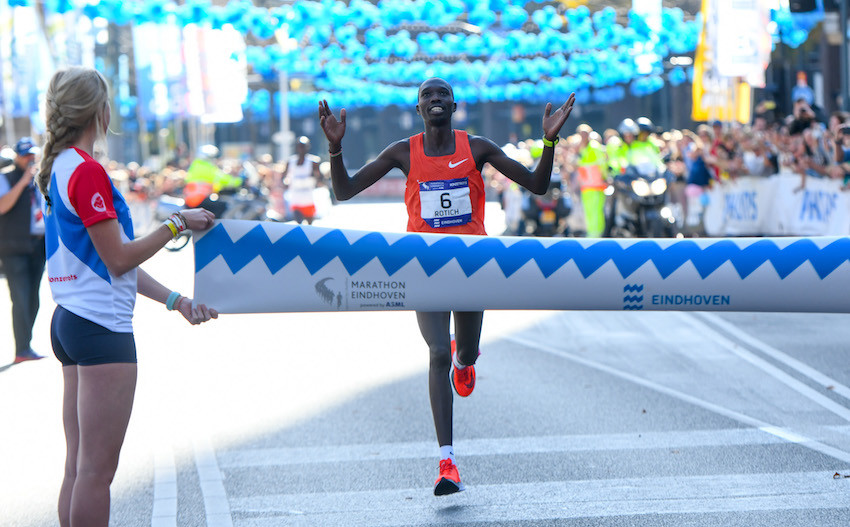 Elisha Kipchirchir Rotich won the 35th annaul Eindhoven Marathon in 2:07:32