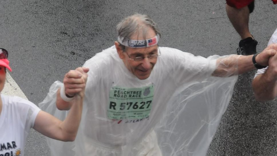 Lamar Perlis, 93 is not the fastest but will be the oldest male running the Peachtree 10K July 4th