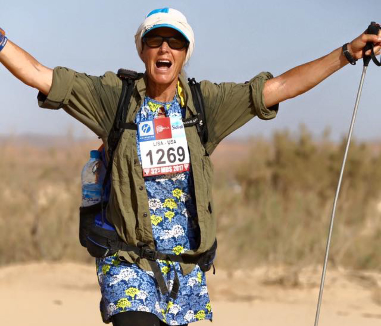 I walked with the camels, sat on top of sand dunes, sang songs, mediated and helped Runners through some tough moments at MDS