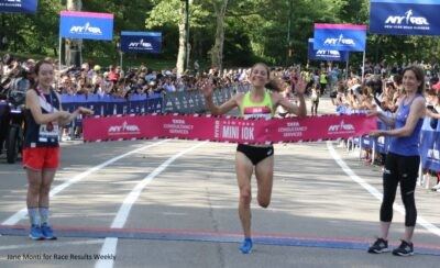 Sara Hall was the winner at the New York Mini USA 10-K in Central Park