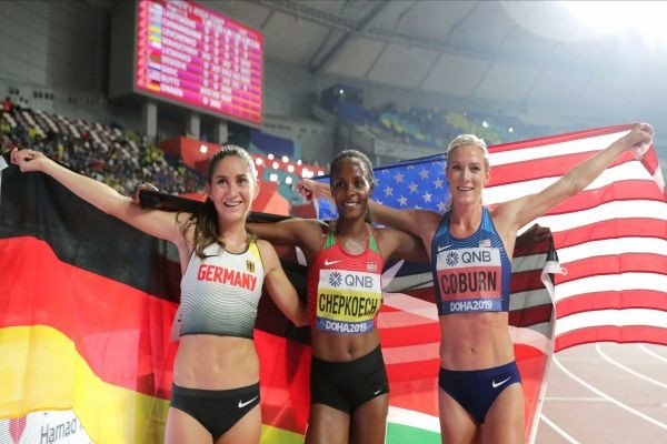 Olympic bronze medalist Emma Coburn, Takes Silver Medal With Personal-Best Finish In Steeplechase