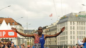 Kenya´s Bernard Too set a new course record at The Harmony Geneva Marathon clocking 2:09:45