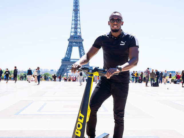 Sprint superstar Usain Bolt jumps into Paris scooter mania business