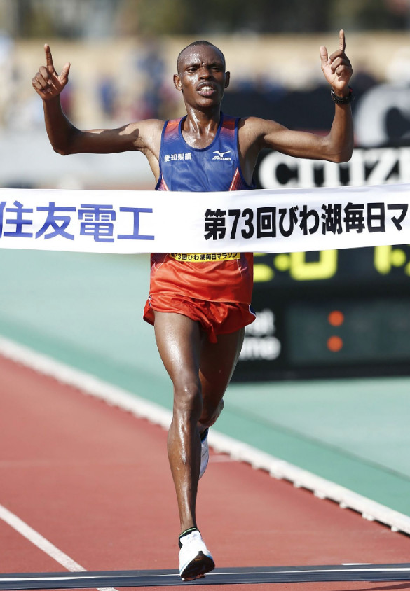 Macharia Ndirangu wins Lake Biwa Marathon; Shogo Nakamura leads Japanese in seventh