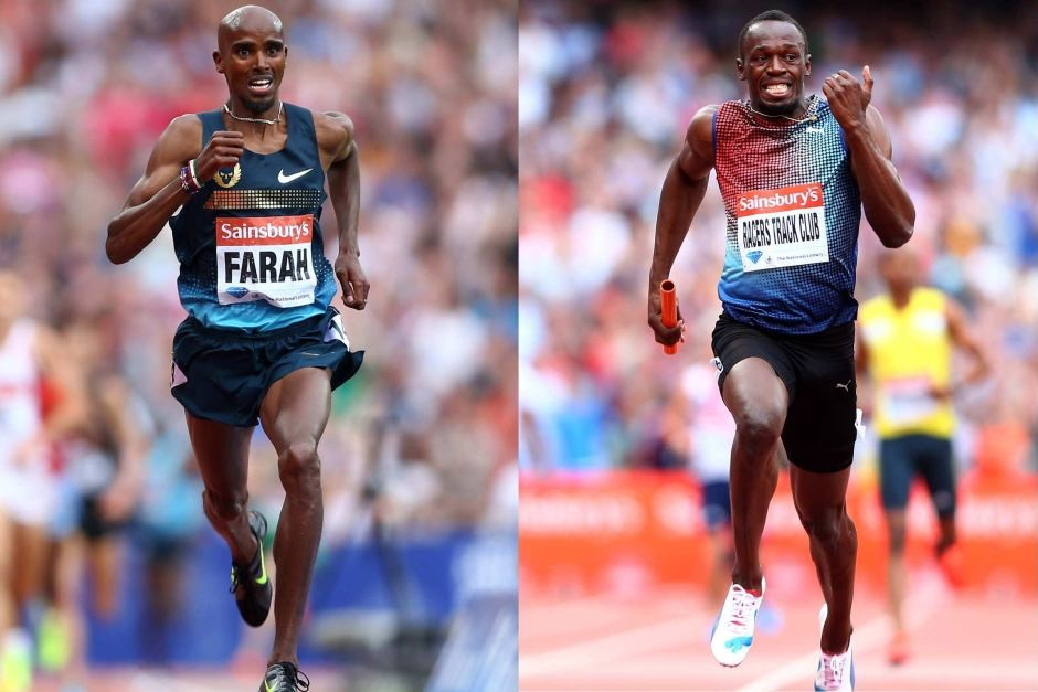Mo Farah and Usain Bolt will go head-to-head in the charity football match this weekend
