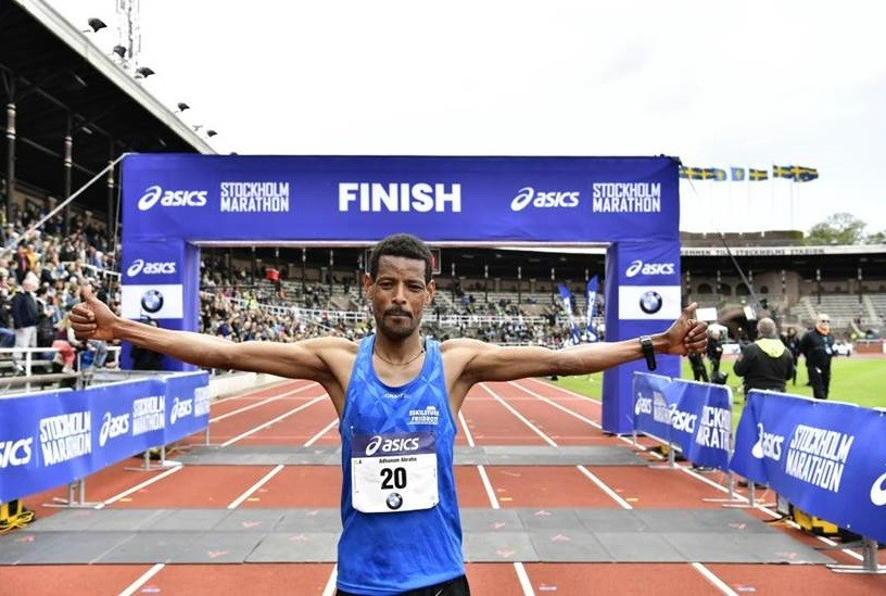 A new record was set when Nigussie Sahlesilassie won the 2019 Stockholm Marathon this saturday clocking 2:10:10