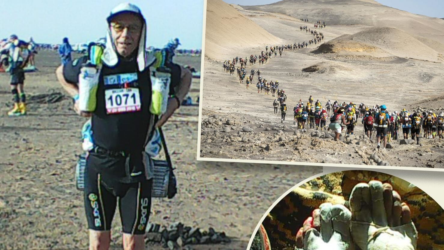 73-Year-Old Bill Mitchell heard that the 156 mile MdS was harder than they thought it would be?