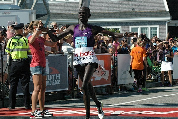 Kenyan Stephen Sambu will be looking for his fifth Falmouth Road Race title this Sunday