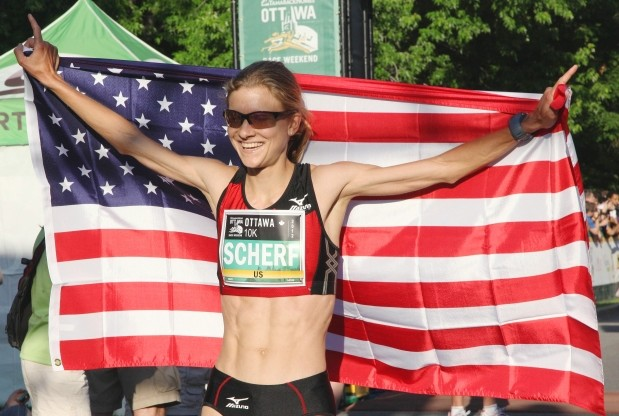 Scherf and Richards sets world indoor Marathon records at the Armory