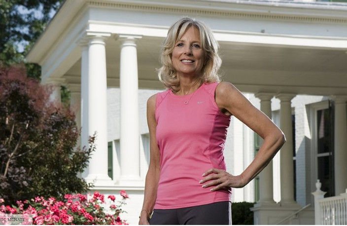Dr. Jill Biden is a runner and in fact has run a marathon