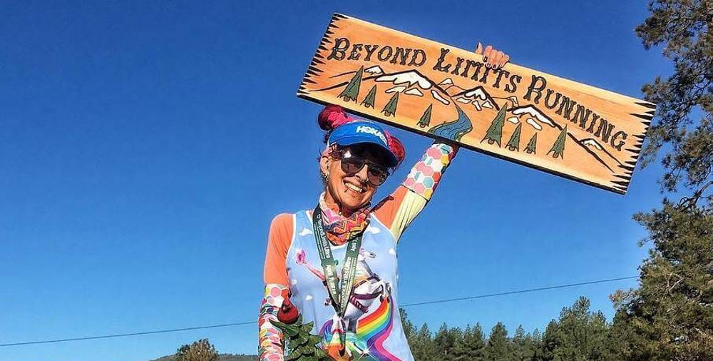 This ultra-marathoner is always decked out in brightly colored, punk-inspired outfits flashing a smile