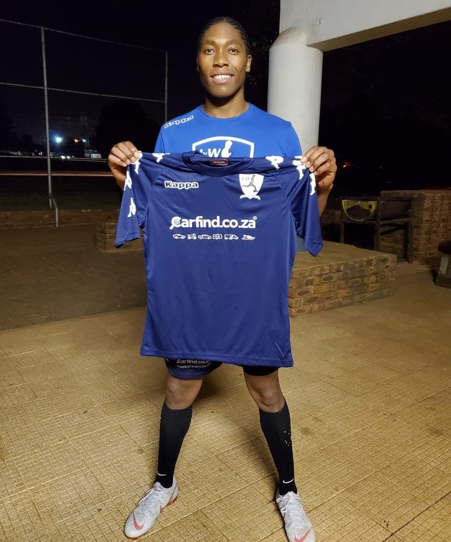 Caster Semenya has signed with South African soccer team Janine van Wyk Football Club