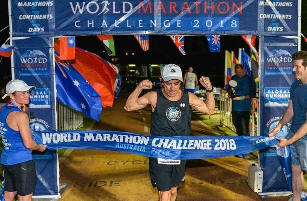 Dave McGillivray Triumphant in World Marathon Challenge