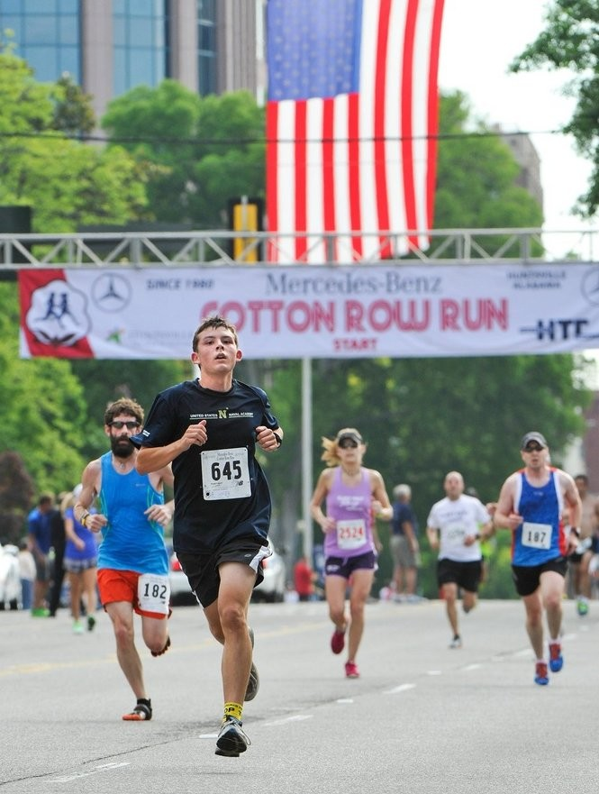 The Cotton  Row Run in Huntsville is celebrating 40 years and is featuring a new 5k course