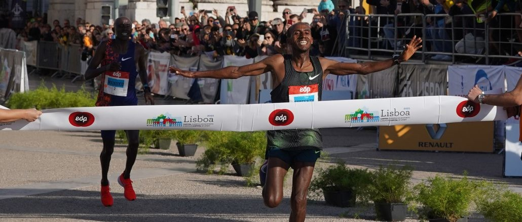 Course Records were broken in Lisbon on Sunday