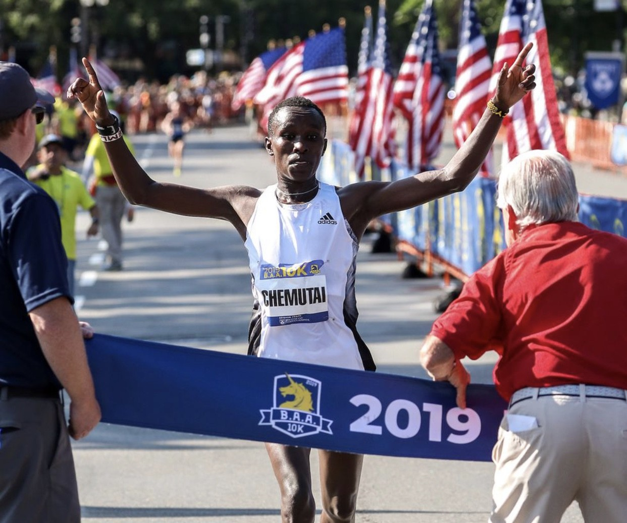 Fancy Chemutai wins BAA 10k women's race and sets course record