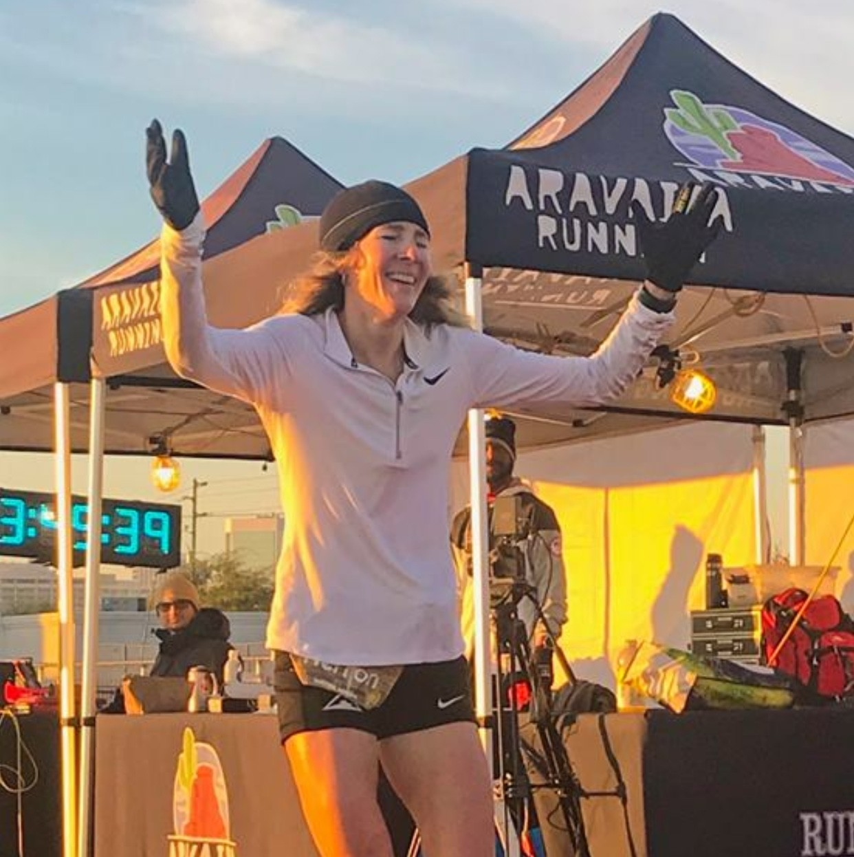 America's Camille Herron sets a new world 24-Hour track record