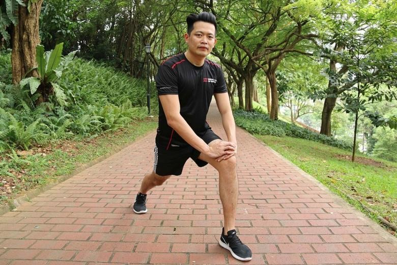Lin Dinxiang overcame a drinking problem replacing it with running and exercising