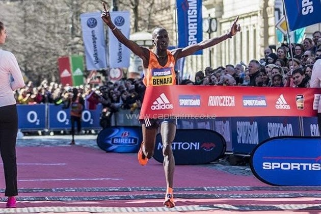 The Kenyan men claimed the top nine spots at the Prague Half Marathon