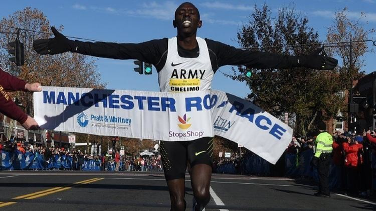 Paul Chelimo will return to defend his title at Manchester Road Race on Thanksgiving Day