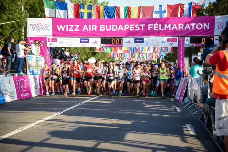 Runners from Kenya dominated the men's category at  Budapest Half Marathon