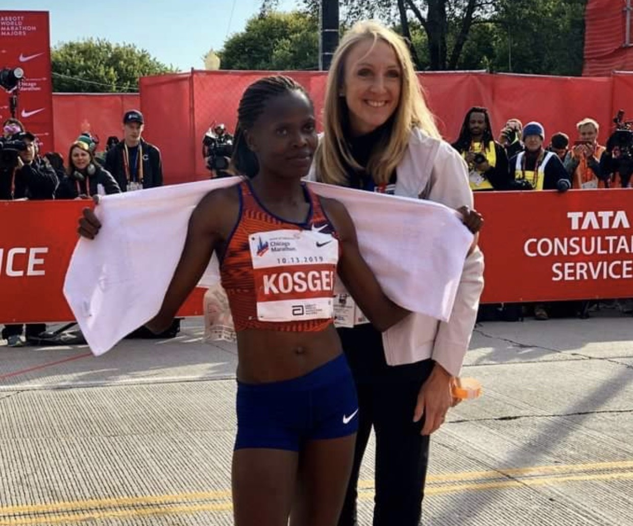 The whole country of Kenya is buzzing with excitement as Brigid Kosgei smashed the world record in Chicago just 33 hours after Eliud Kipchoge clocked the first ever sub two hour marathon in Vienna