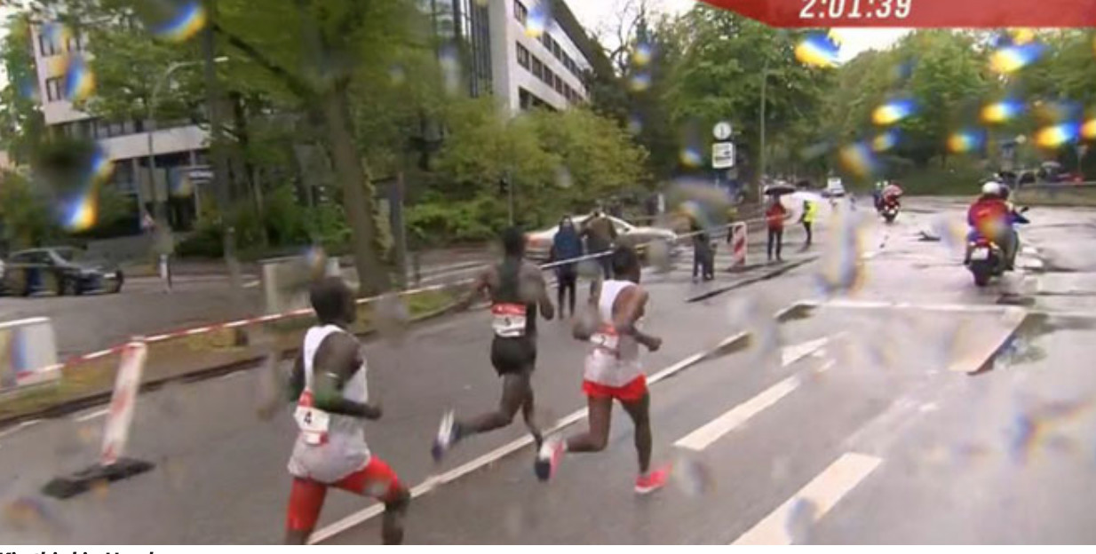 Stephen Kiprotich third best at Hamburg Marathon