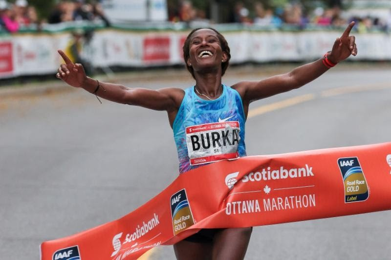 Ethiopian Gelete Burka breaks course record at Ottawa Marathon
