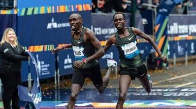 Kenyan-born American runner Paul Chelimo wins his first USA road title this morning in New York