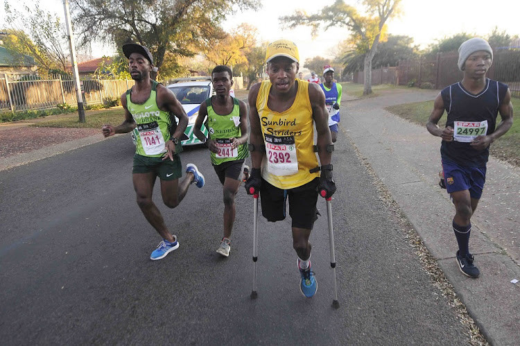 Xolani Luvuno finishes the Comrades Marathon and says running has turned his life around after losing one leg