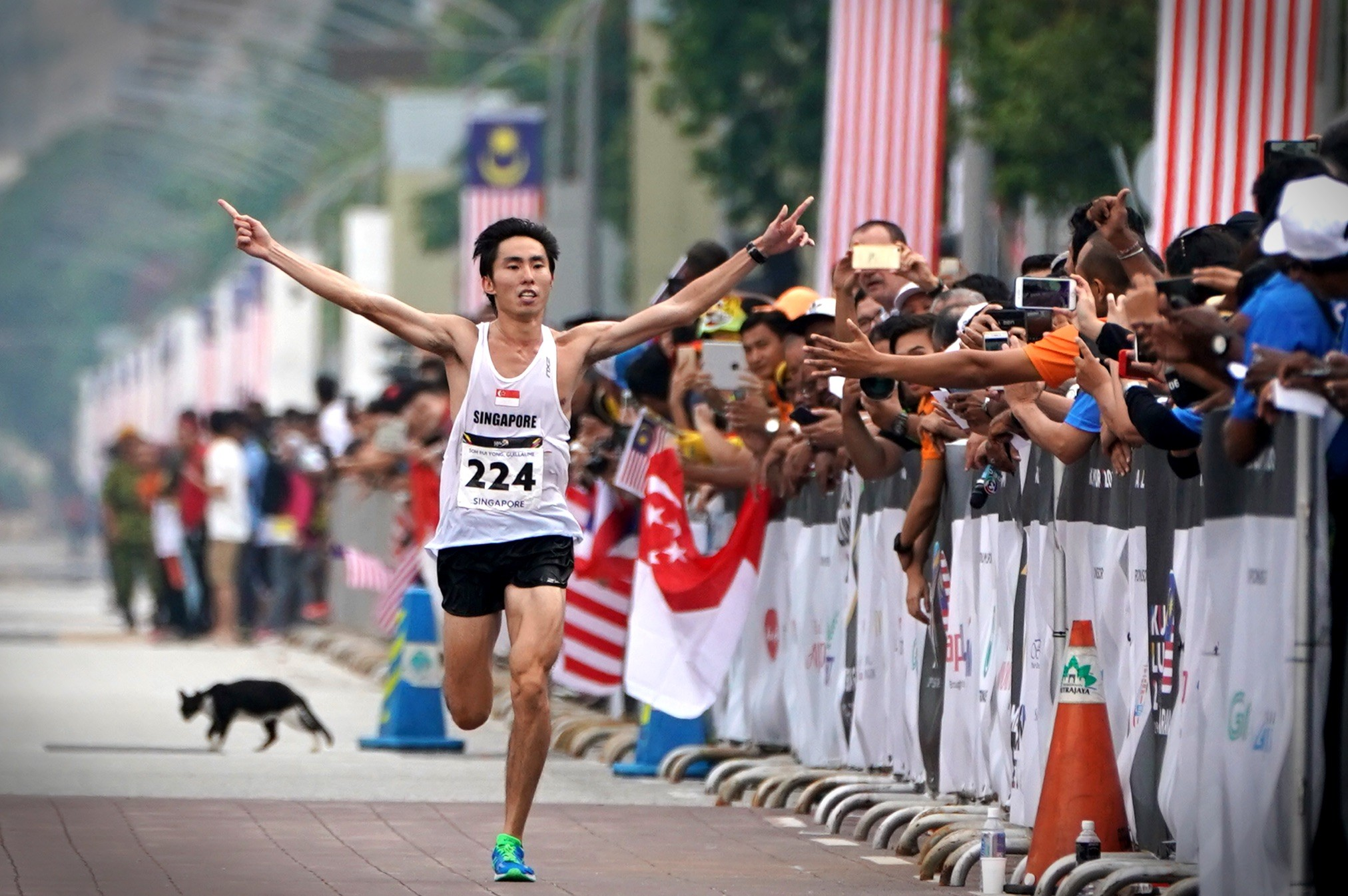 Singapore Fastest Half Marathoner, Soh Rui Yong, getting ready for the World Championships
