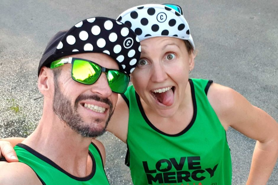 Young parents break world record by running half marathon every day for 77 days