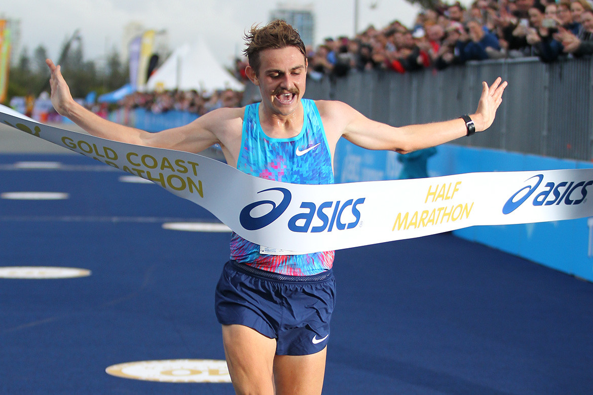 Australian's Jack Rayner Took six minutes off his PR to win the Gold Coast Half Marathon