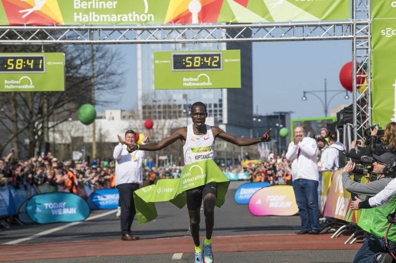 Erick Kiptanui was just 19 seconds off the world record at Berlin Half Marathon