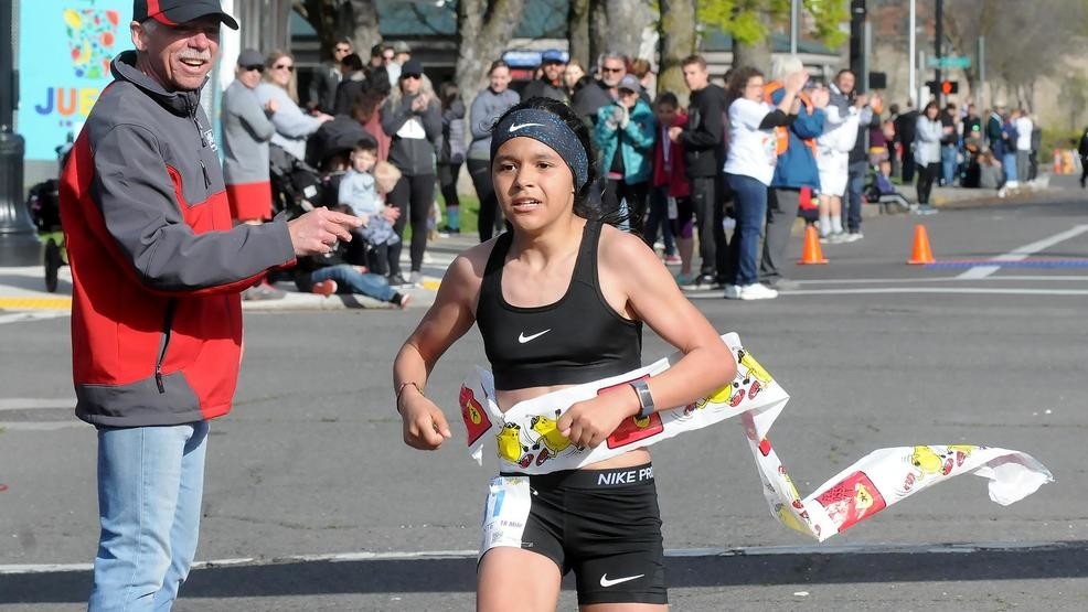 A 10-year-old fifth-grader, Esperansa Morales won the women's division of the 10-mile Pear Blossom Run