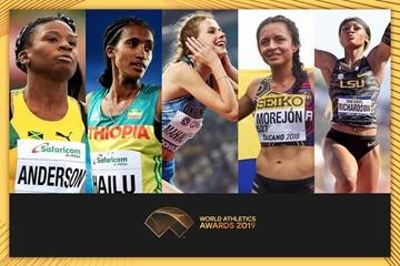 Finalists for the IAAF 2019 Female Rising Star Awards have been announced
