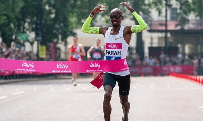 Mo Farah says it was nice running alongside club runners at London 10,000m