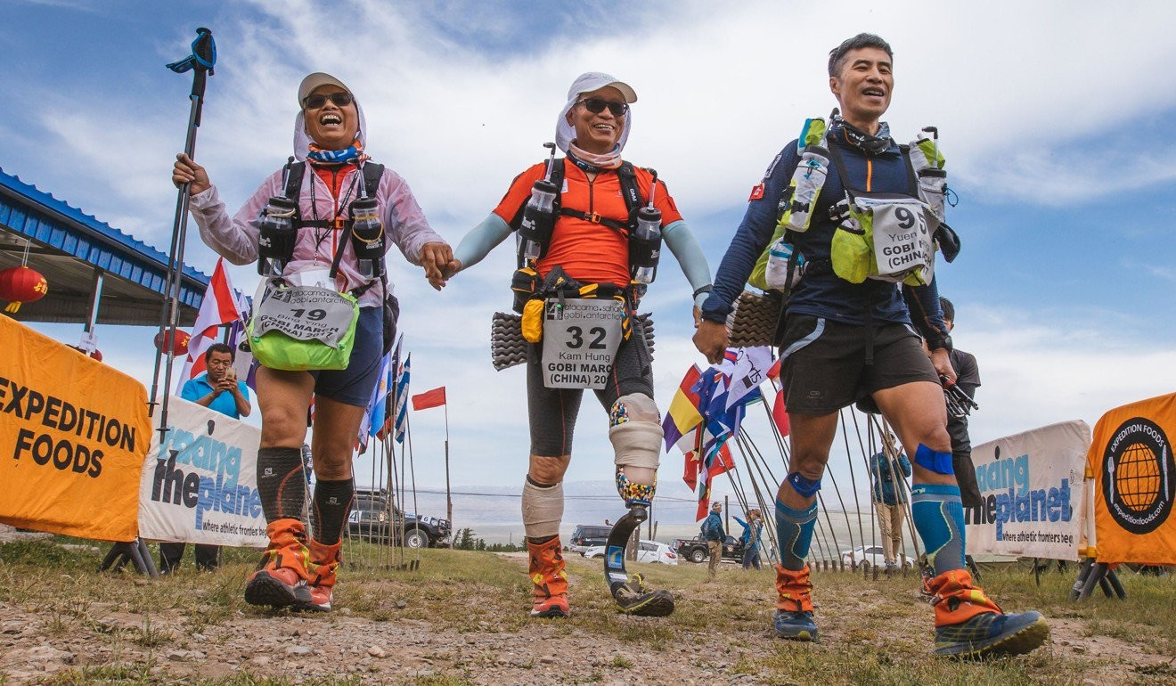 Fung Kam-hung is running a multi-day ultra marathon across Antarctica despite only having one leg