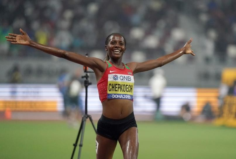 Kenya's Beatrice Chepkoech 3000m Steeplechase world record holder wants to lower that record once things get back to normal