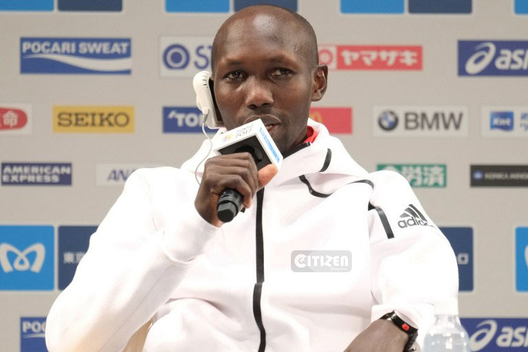 What happened with Wilson Kipsang on Sunday at Tokyo Marathon