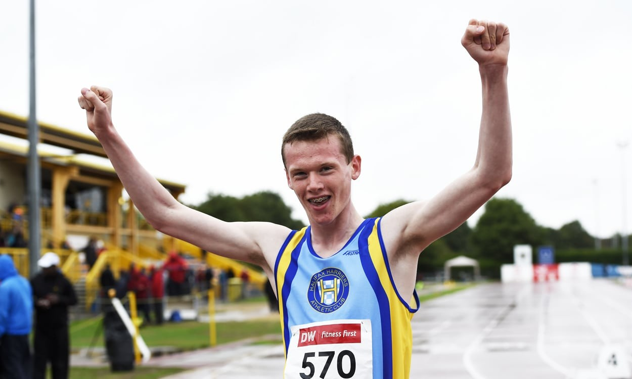18-year-old Max Burgin runs 1:44 UK U20 800m record at Trafford